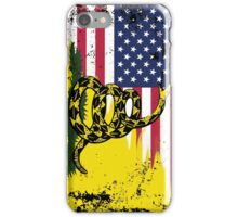 American Gadsden Flag Worn iPhone Case/Skin