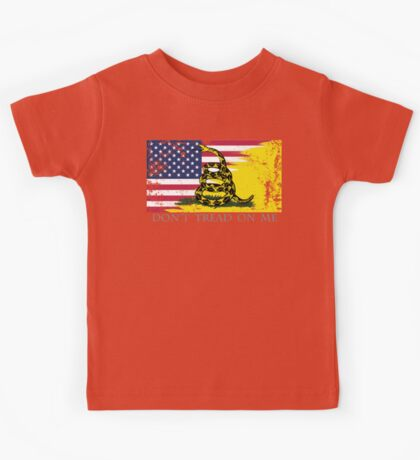 American Gadsden Flag Worn Kids Tee