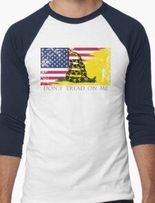 American Gadsden Flag Worn Men's Baseball ¾ T-Shirt