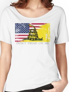 American Gadsden Flag Worn Women's Relaxed Fit T-Shirt