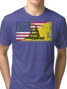 American Gadsden Flag Worn Tri-blend T-Shirt