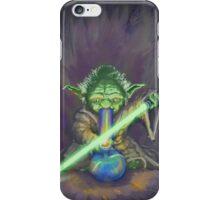Stoned Yoda - #StarWars #StarWarsTheForce #Cannabis  iPhone Case/Skin