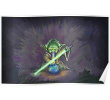 Stoned Yoda - #StarWars #StarWarsTheForce #Cannabis  Poster