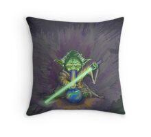Stoned Yoda - #StarWars #StarWarsTheForce #Cannabis  Throw Pillow
