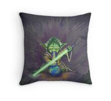 Stoned Yoda - #StarWars #StarWarsTheForce #Cannabis  Throw Pillow