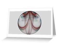 Baseball From The Other Dimesion Greeting Card