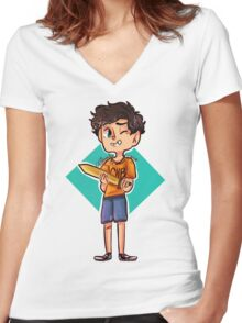 Son of the sea Women's Fitted V-Neck T-Shirt