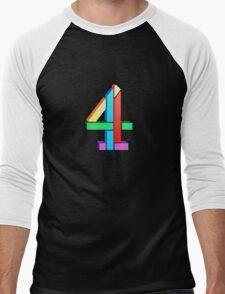 Channel 4 retro logo  Men's Baseball ¾ T-Shirt