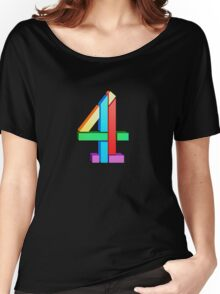 Channel 4 retro logo  Women's Relaxed Fit T-Shirt