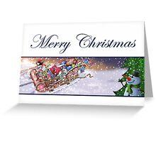 Christmas Sleigh Card Greeting Card