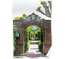 Archway at Filoli Gardens Poster