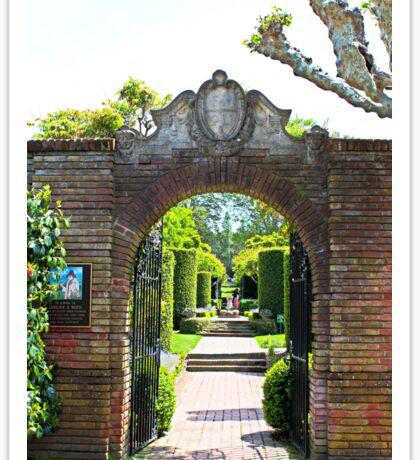 Archway at Filoli Gardens Sticker