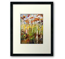 Brush Stroke Birchs Framed Print