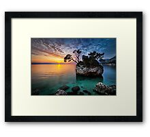Moods of sunset Framed Print
