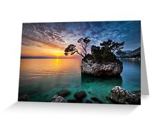 Moods of sunset Greeting Card