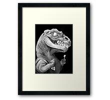 Nirvana Ink Dinosaur Illustration Framed Print