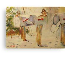 Winter Mail Canvas Print