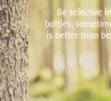 Be selective Sticker