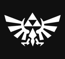 Zelda - Triforce (White) by JuliaJean1