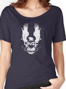 UNSC Logo White Women's Relaxed Fit T-Shirt