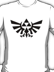 Zelda - Triforce (Black) T-Shirt