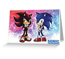 Sonic & Shadow Greeting Card