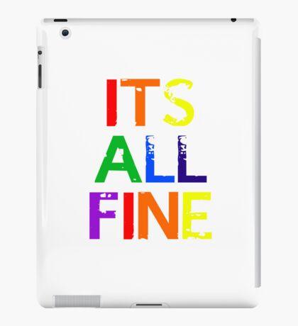 It's All Fine (Johnlock) ~ Rainbow iPad Case/Skin