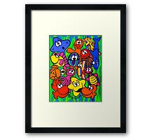 Fishy Business in Weed Patch Framed Print
