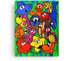 Fishy Business in Weed Patch Canvas Print