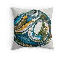 "Sea Vessel, ""Deep Calls To Deep"" Ocean Series Throw Pillow"