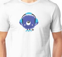 Cute Sound Monster with Headphone Unisex T-Shirt