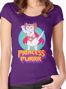 Princess of Purrr Women's Fitted Scoop T-Shirt