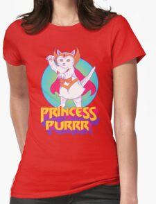 Princess of Purrr Womens Fitted T-Shirt