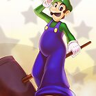 Dreamy Luigi by hybridmink