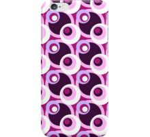 Cool retro cross-eyed circles pink and purple iPhone Case/Skin