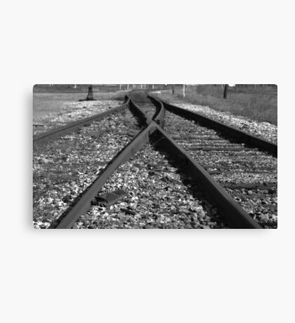 Rail Switch Canvas Print