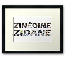 Zinedine Zidane Framed Print