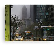 Market Street Morning Rush Canvas Print