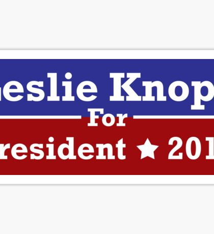 Leslie Knope for President Sticker