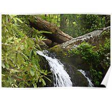 Waterfall - Gatlinburg Tennessee Poster