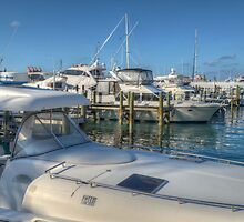 Busy Marina in Nassau, The Bahamas by Jeremy Lavender Photography