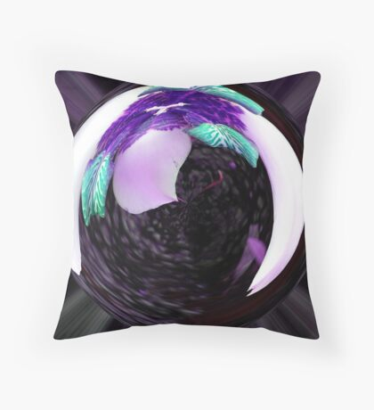 Flower Globe Throw Pillow