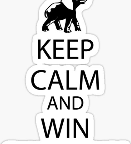 Keep Calm and win National Championships Sticker