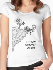 Throw Grover Over T-Shirt Women's Fitted Scoop T-Shirt