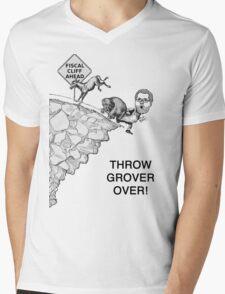 Throw Grover Over T-Shirt Mens V-Neck T-Shirt