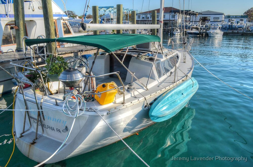 Suspended Plant, BBQ... Feeling just like Home on this boat in Nassau, The Bahamas by Jeremy Lavender Photography