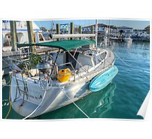 Suspended Plant, BBQ... Feeling just like Home on this boat in Nassau, The Bahamas Poster