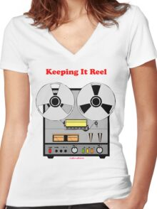 Keeping It Reel Women's Fitted V-Neck T-Shirt