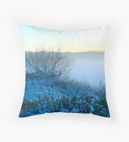 Devon Mist Throw Pillow