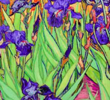 Vincent Van Gogh Purple Irises Sticker